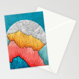 The crosshatch peaks Stationery Cards