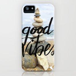 Good Vibes - Rock balancing iPhone Case