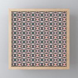 Geometric pattern Framed Mini Art Print
