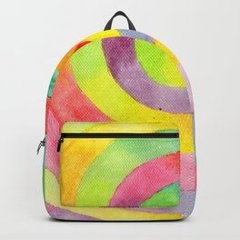 Rainbow spiral Backpack