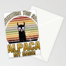 Adventure you say? - Alpaca Travel Travel Llama Stationery Cards