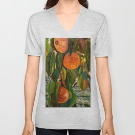 Jimmy and the Giant Peach Tree Unisex V-Neck