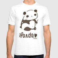 Panda Panda MEDIUM White Mens Fitted Tee