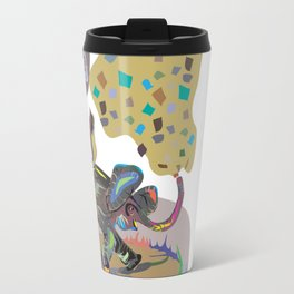"""Elephant Cha Cha"" Paulette Lust's Original, Contemporary, Whimsical, Colorful Art  Travel Mug"