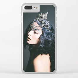 Queen, Oh Thumbelina - Dark Fashion Print Clear iPhone Case
