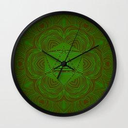 Natural 20 Mandala Woodland Stride Wall Clock