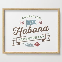 Vintage Havana Cuba Logo Serving Tray