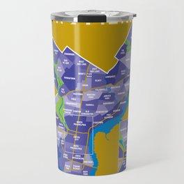 The Neighborhoods of Philadelphia - Inkblot Travel Mug