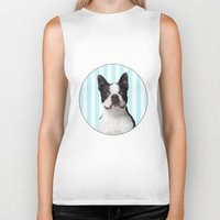boston terrier Biker Tanks featuring Boston Terrier by jampot gallery