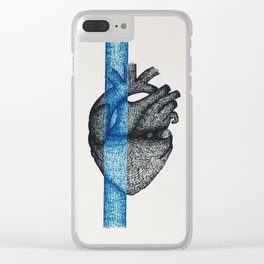 Color Blocked, Blue Clear iPhone Case