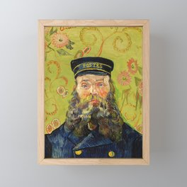 The Postman (Joseph Roulin) (1888) by Vincent Van Gogh. Framed Mini Art Print