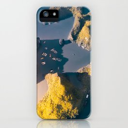 Tiny boats, big rocks iPhone Case