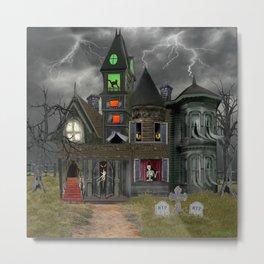 Halloween Haunted Mansion Metal Print