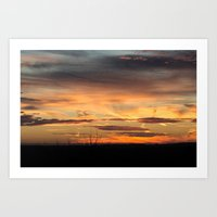 Sunset over the valley Art Print
