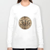 bible verses Long Sleeve T-shirts featuring LOST VERSES FOUND by Miriam Hahn