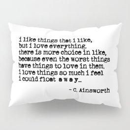 Like vs. Love Pillow Sham