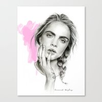 cara Canvas Prints featuring Cara by Coconut Wishes