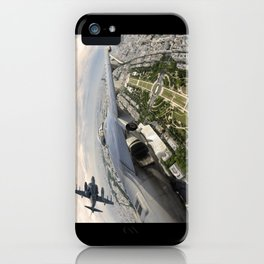 Flying over Mars iPhone Case