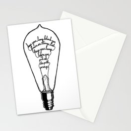 "Ode to the Bulb - ""keep your lamp"" Stationery Cards"