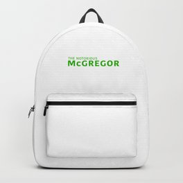The Notorious McGregor Backpack