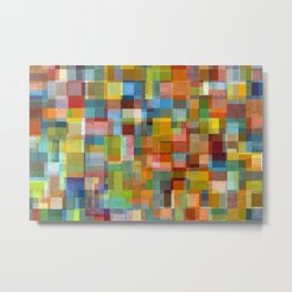 Colorful Collage with Layers Metal Print