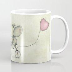 Cute Elephant riding his bike Mug
