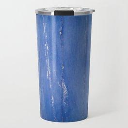 Blue weathered wood surface stone texture Travel Mug