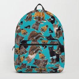 Tough Cats on Aqua Backpack