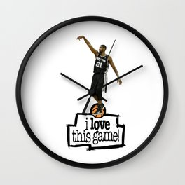 Tim Duncan Wall Clock