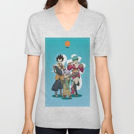 Dragon Ball Bushido : Vegeta's family Unisex V-Neck