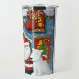 Santa's House Travel Mug