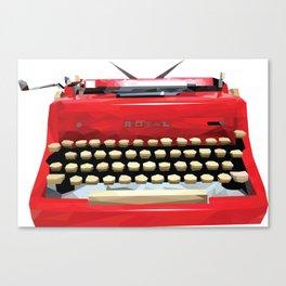 Geometric Vintage Typewriter Canvas Print