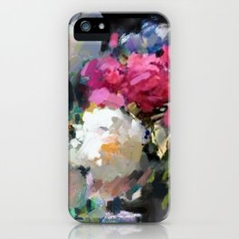 Still Life with White & Pink Roses iPhone Case