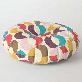 Mid Century Modern Circles Floor Pillow