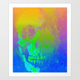 Skull/Star II Art Print