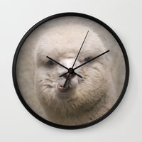 alpaca Wall Clocks featuring Alpaca! by Pauline Fowler ( Polly470 )
