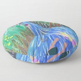 River vacation Floor Pillow