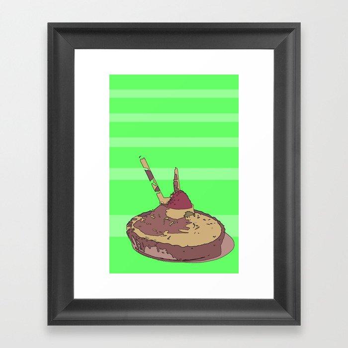 I'm a little tart. Framed Art Print