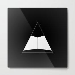Abstraction 012 - Minimal Geometric Triangle Metal Print