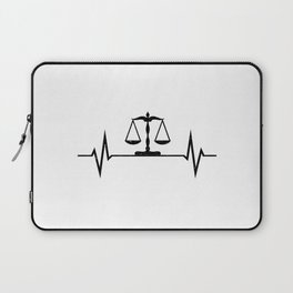 Scales Of Justice Heartbeat Lawyer Judge Laptop Sleeve