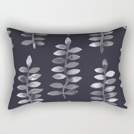 Black and white watercolor plants Rectangular Pillow