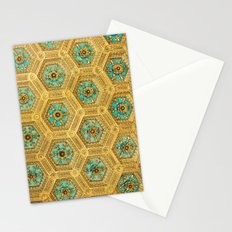 Gold Honeycomb Stationery Cards