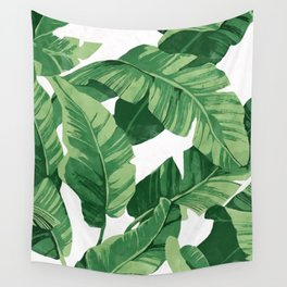 Tropical banana leaves IV Wall Tapestry