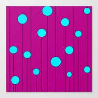 balloons Canvas Prints featuring Balloons  by JuniqueStudio
