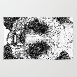 The Illustrated Panda Rug