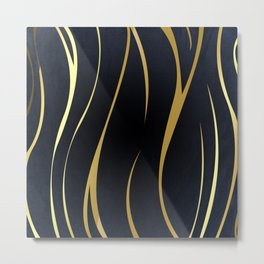 Golden Curves Metal Print
