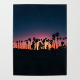 The Perfect Tropical Sunset (Color) Poster