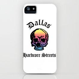 Dallas Texas Hardcore Streets Urban Streetwear Spectrum Skull, Super Sharp PNG iPhone Case