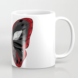 Butterfly - Crazy Killer Red and Black Wings Coffee Mug