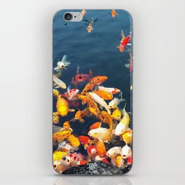 Colorful carp in the pond iPhone Skin